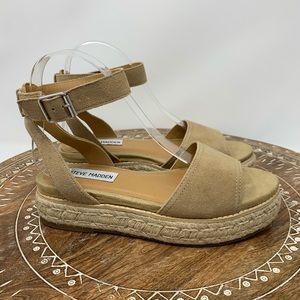 Gabi Nude Espadrille Flatform Sandals